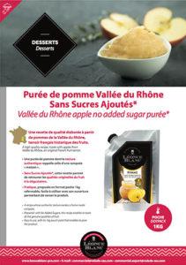 Fiche - Purée de pomme Vallée du Rhône Sans Sucres Ajoutés